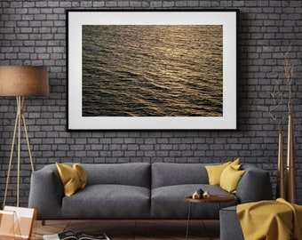 Ocean 6 Abstract Water Minimalist Australia Photograph Photo Wall Art Print Mindfulness Gold Black