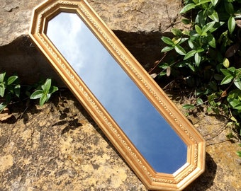 Vintage Gold Octagon, Home Interiors Mirror, Statement Wall Decor, Rectangular Mirror, Mid Century, French Country, Cottage, Glam