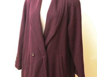 Wool Purple Maxi Coat | Kristen Blake Classics Wool Coat | Women's Duster Jacket | Wool Duster Jacket | Purple Peacoat | Purple Maxi Coat