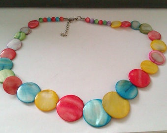 multi coloured shell necklace