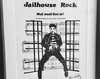 Elvis Presley sheet music art