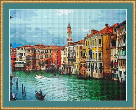 Venice, Italy Cross Stitch Pattern /Digital PDF Files /Instant downloadable