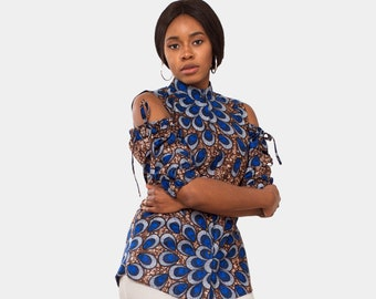 Kitenge Blouse // colorful blouse // women's blouse // african print top // ankara blouse // tops for women