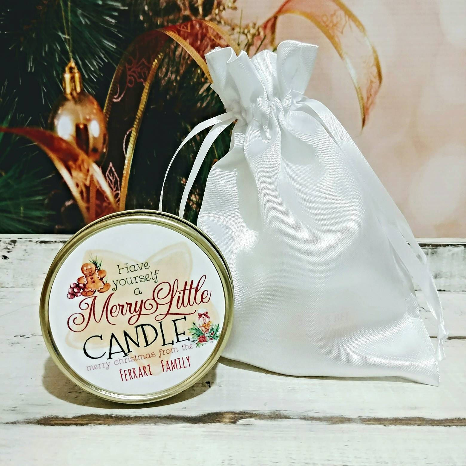 Christmas Favors - Holiday Candle Favors - Christmas Candle Favors ...