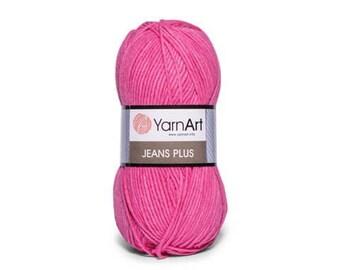 Jeans Plus Yarn Art Crochet yarn Yarn for knitting Hypoallergenic yarn Summer yarn Hand knit yarn Color choice Cotton-Acrylic yarn Soft yarn