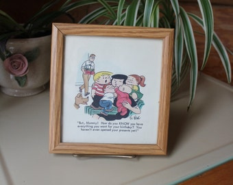 Vintage SIGNED Family Circus Official Print 1980s Mothers Gift SALE