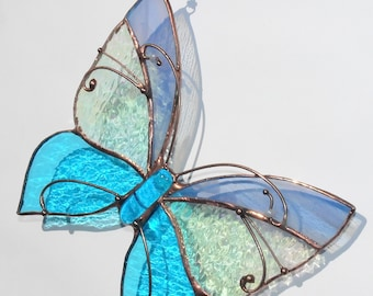 Stained Glass Suncatcher Butterfly Tiffany Glass Home decor