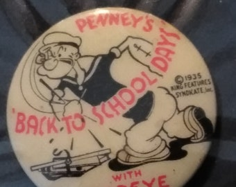 1935 Vintage Popeye Pin