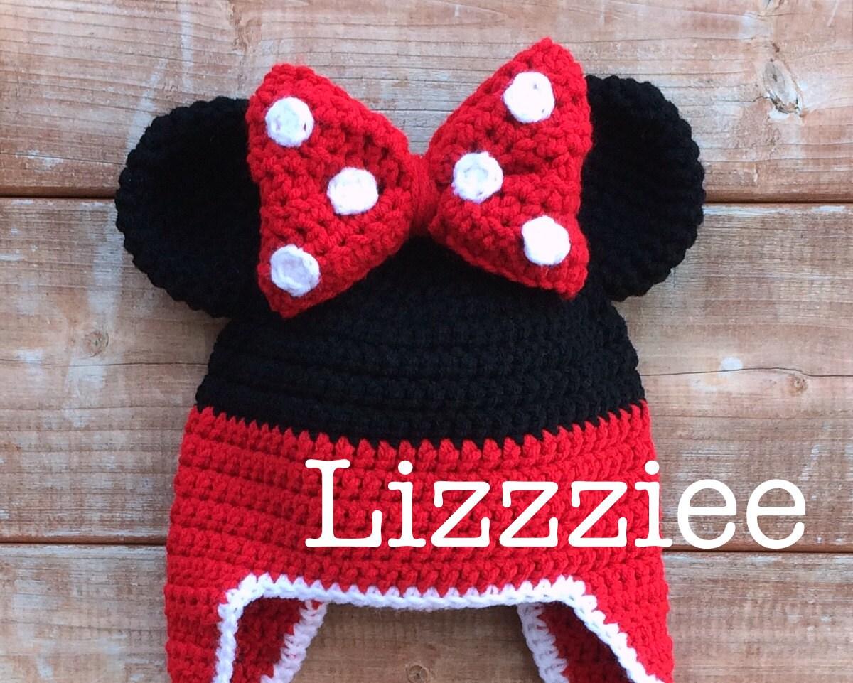 Minnie Mouse Stripe Crochet Beanie PDF Pattern fun to make