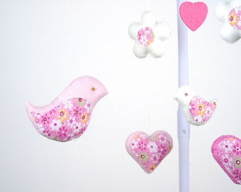 SALE  Baby Crib Mobile, Birds Baby Mobile, Nursery Decor, Ready to Ship, Gift Packaging