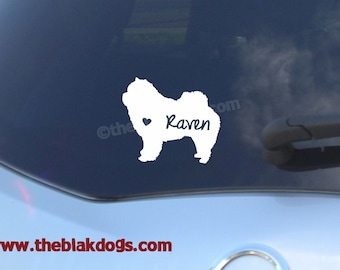 Chow Chow Silhouette Vinyl Sticker Car Decal Personalized