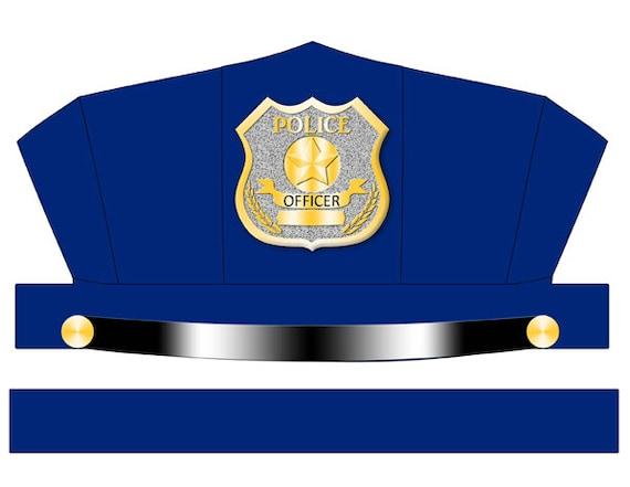 digital download blue police hat printable rh etsy com