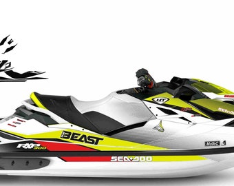 PWC Jetski graphics decals stickers kit for seadoo rxp rxp-x 2012 2018