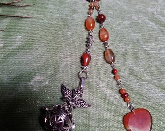 """Gemstone Rear View Mirror Charm and Essential Oil Diffuser ~ Car Ornament - """"Angelic Blanket"""" CarGem Diffuser"""