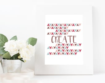 Create Wall Art Printable Instant Download