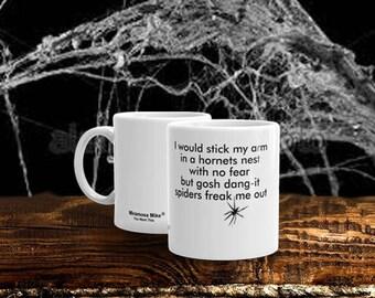 Funny Manly Man Ceramic Mug, Hornets/Spiders