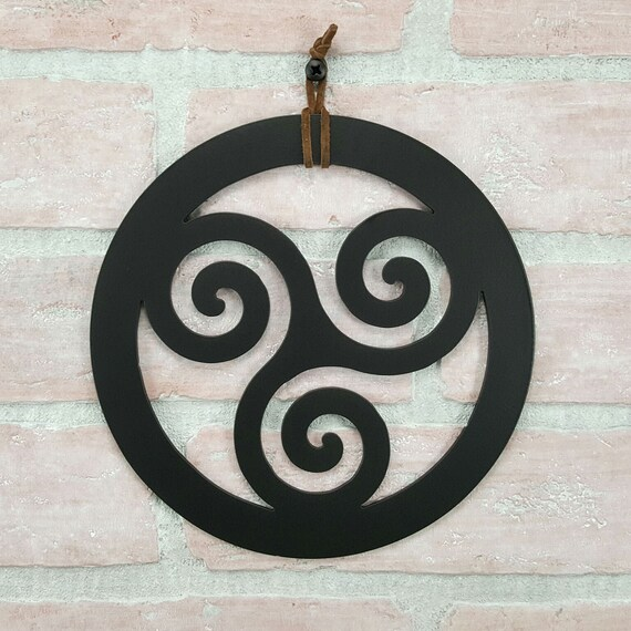 Celtic Triskelion Wall Art Triple Spiral Art Celtic Home