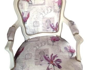 Louis style modern HD print chair