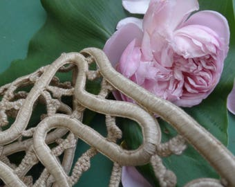 Lace to art deco trimmings. antique French lace. vintage French lace. Rich and heavy lace home decor