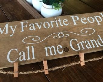 Grandparents Sign , Grandkids Picture Display , NANA Sign, GiGi Sign, Wall Decor, Mother's Day Gift, Grandparents