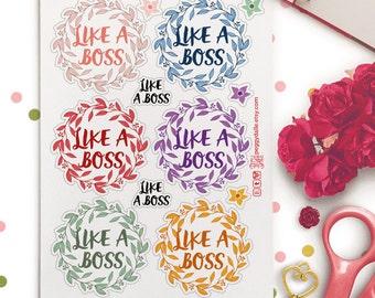 Like A Boss Funny Sassy Planner Stickers |  Kikki K | Erin Condren | Girl Boss | Boss Gift