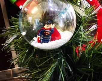 Superman istmas Bauble Superhero istmas Tree Gift Custom Made to order, lots of figures available Superhero Fan