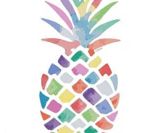Watercolour Pineapple Print
