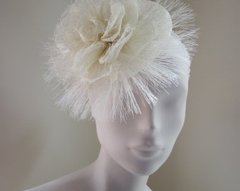 Cocktail Hat Bridal Ascot Ivory