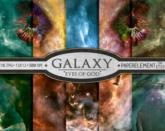 Nebula Galaxy Digital Paper: Space Digital Paper, Space Backdrop, Nebula Print, Printable Outer Space Art, Galaxy Digital Images, Nebula Art