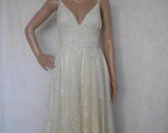 bohemian wedding dress lace wedding dress beach wedding dress fairy woodland wedding dress made to order