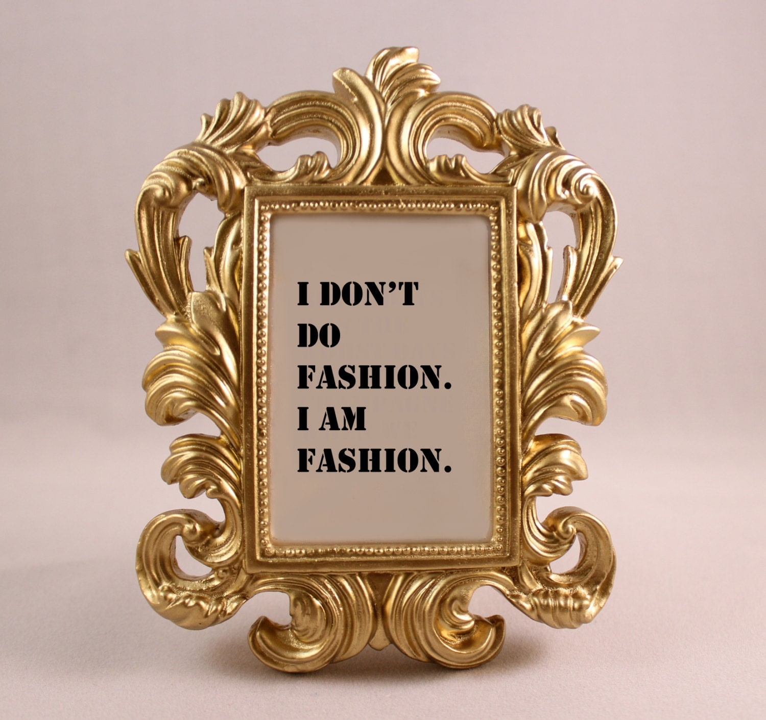 Custom framed quote coco chanel fashion quote i am fashion zoom jeuxipadfo Image collections