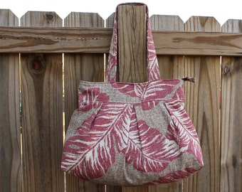 Large Tote Bag, Tote with Zipper, Shoulder Bag, Zipper Shoulder Bag, Women's Handbag, Pleated Shoulder Bag, Tote with Pockets, Gifts for Mom