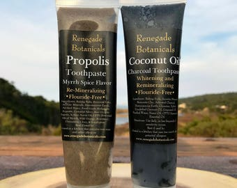 Charcoal & Propolis Toothpaste Duo