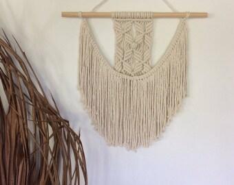 Macrame wall hanging/ Wall art/ Boho wall tapestry/ 'LEAF & BUD'