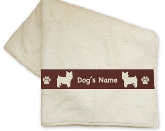 Yorkshire Terrier Yorkie Dog Bath Towel Personalized with Your Dog's Name -  Your Choice of Colors
