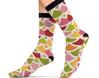 Mermaid Scales Design Printed Sublimation Socks