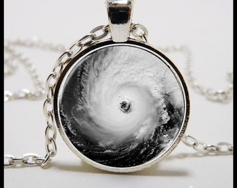 Eye of a hurricane Pendant and Necklace - Photo Pendant  - eye of the storm Jewelry - Gifts for wome - custom photo pendants - gifts for her
