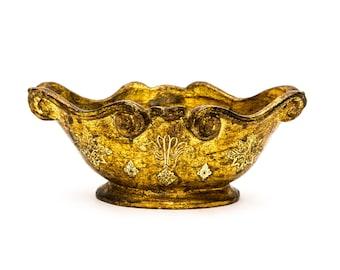 Gold Florentine Gilt Ceramic Cachepot Italy