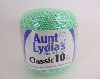 Mint Green -  Aunt Lydia's Crochet Cotton Classic Size 10