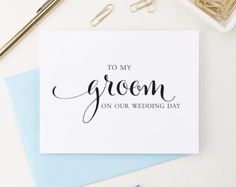 To my Groom on our wedding day Card, To my Groom Card, Wedding Day Card Groom, Groom Card, Sweet love note for bride, Wedding gift WCP02
