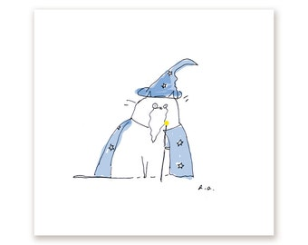 Wizard Cat Print - Funny Cat Print - Magic