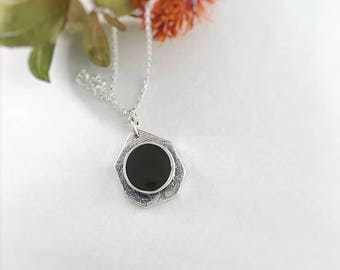 Custom Memorial Cremation Jewelry, Cremation Jewelry, Art Deco Necklace, Sterling Silver Pet Ashes Jewelry