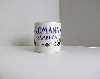 Romana Sambuca Espresso Cup with handle Only  ITALY Italian Coffee Liqueur Advertising Replacement