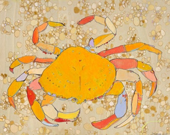Dunge Crab Jennifer Mercede Canvas Print 24X24