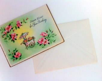 Vintage Greeting Card Happy Wishes For Your Birthday Coronation Collection Blank Card