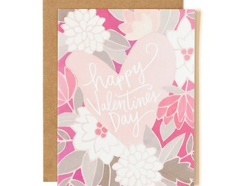 Happy Valentine's Day Illustrated Card // 1canoe2