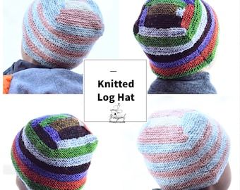 Instant Download - Knitted Log Hat - PATTERN ONLY