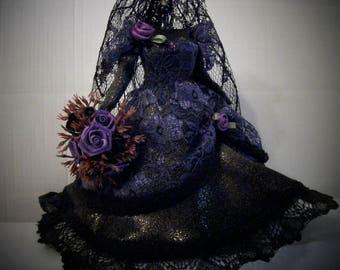 "Miniature ""GOTH"" BRIDAL GOWN - Purple"