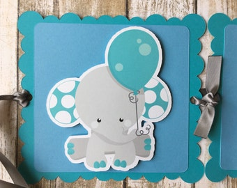 Elephant Boy Birthday Banner/I am one Banner/Boy Party/Baby Shower Party/Girl Party