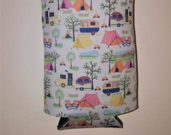 Lets Go Camping Beverage Sleeve Cover